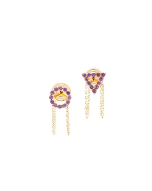Eshvi - Multicolor February Amethyst Earrings - Lyst