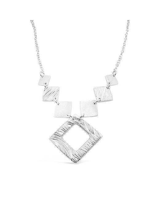 Designs by JAK - Metallic Verity Square Diamond Necklace - Lyst