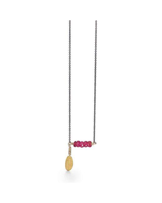 Bergsoe | Metallic Silver Leaf Necklace | Lyst