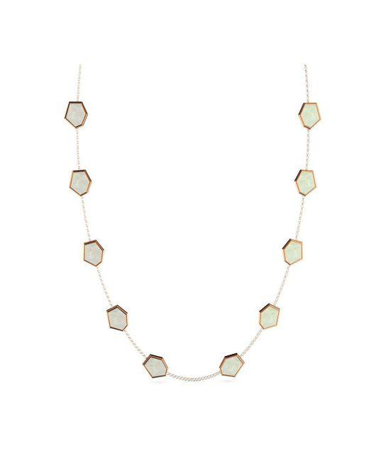 MARCELLO RICCIO - Metallic Gold & Mother Of Pearl Necklace - Lyst
