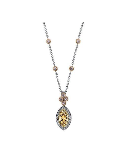 Harry Kotlar - Metallic Diamond Solitaire Necklace - Lyst