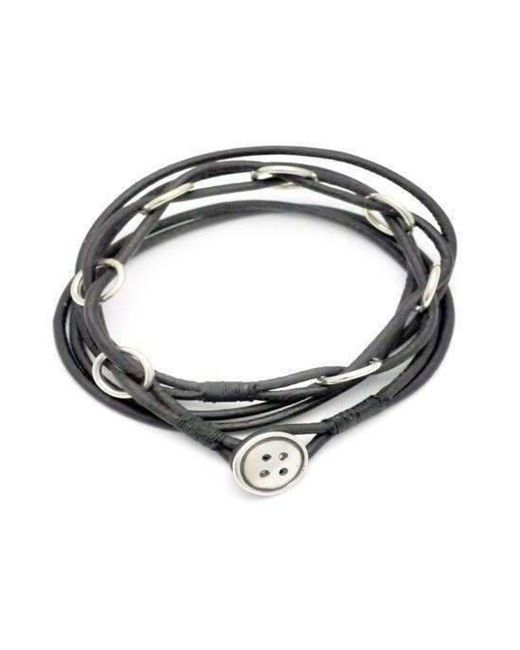Annika Rutlin | Multicolor Button Catch Leather Necklace | Lyst