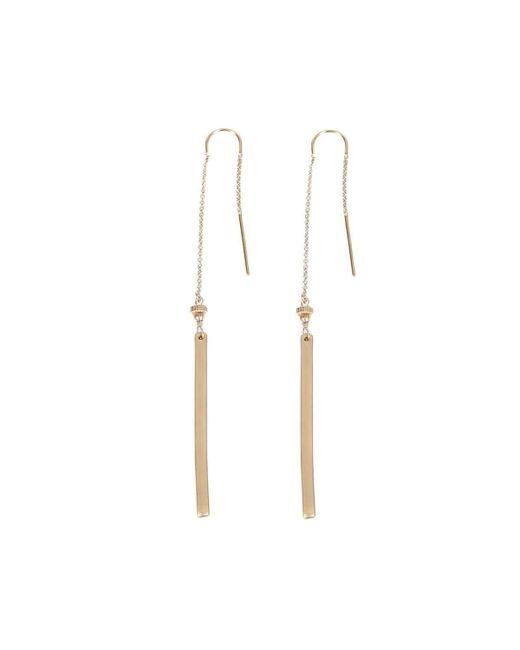 Verve Jewelry   Metallic Sugar - All Gold-long Threader Earrings   Lyst