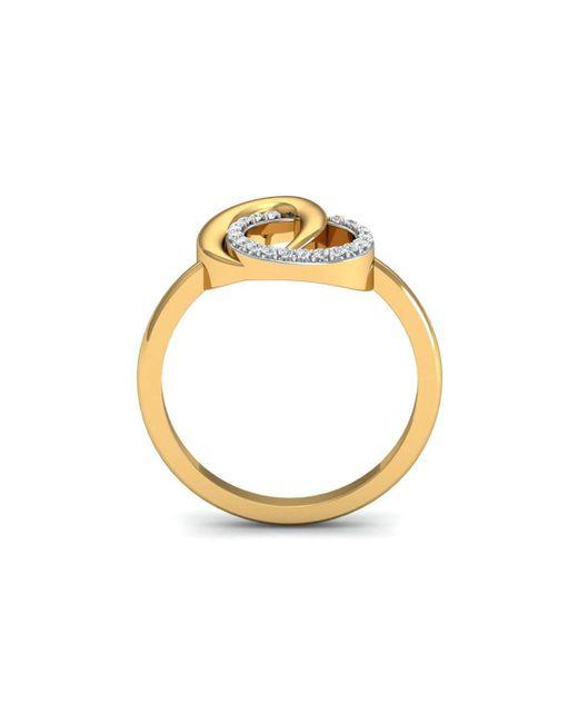 Diamoire Jewels 18kt Yellow Gold Pave 0.07ct Diamond Infinity Ring III - UK G 1/4 - US 3 1/2 - EU 45 3/4 u3vZ0