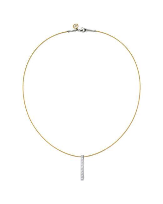 Alor   Metallic Classique Necklace Yellow Drop Diamond Pendent   Lyst