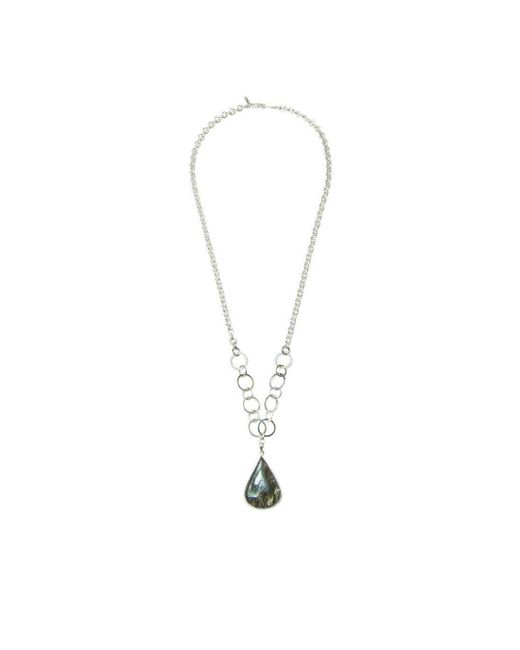 Purnell - Metallic Silver And Tourmalated Quartz Icon Necklace - Lyst