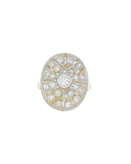 Alexis Danielle Jewelry - Metallic Original Art Deco Diamond Platinum 18kt Yellow Gold Ring - Lyst