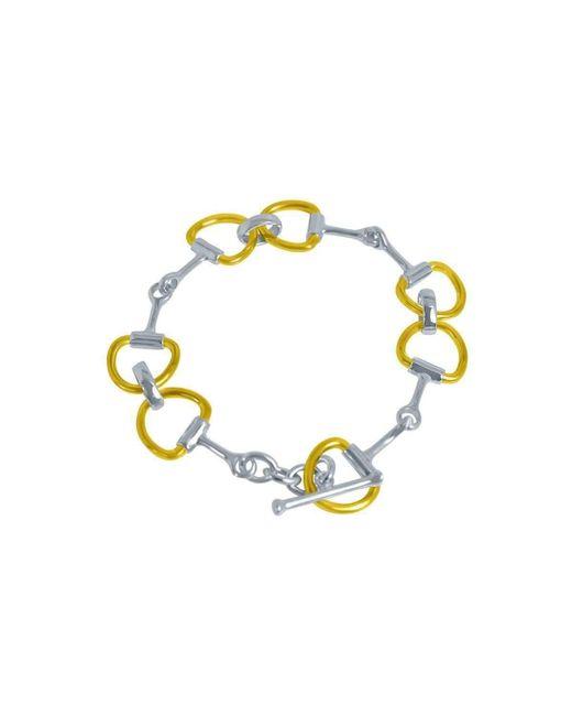 Pegasus Jewellery - Metallic Gold Snaffle Bracelet - Lyst