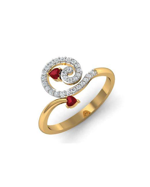 Diamoire Jewels 18kt Yellow Gold Pave 0.04ct Diamond Infinity Ring III - UK G 1/4 - US 3 1/2 - EU 45 3/4 EsvRdwGO