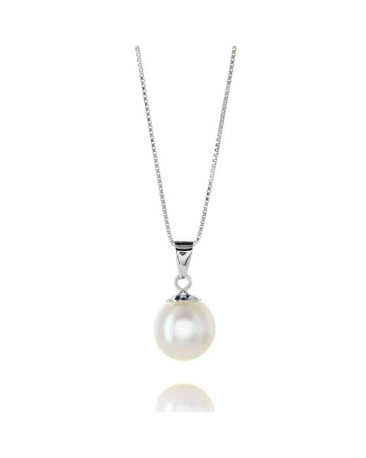 Brian Gavin Diamonds - White Gold & White Freshwater Pearl Pendant Necklace - Lyst