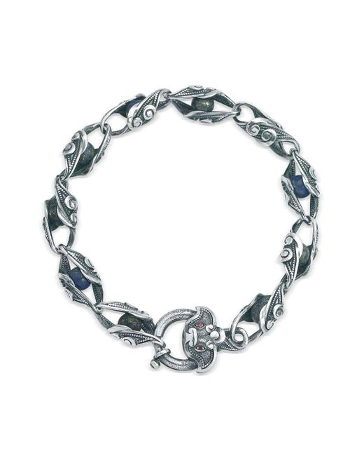 Suciyan - Multicolor Dragon Knot Lapis And Ruby Sterling Silver Bracelet for Men - Lyst