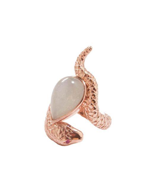 Alexandra Alberta - Multicolor Rose Gold Plated Arizona Ring With Grey Moonstone - Lyst