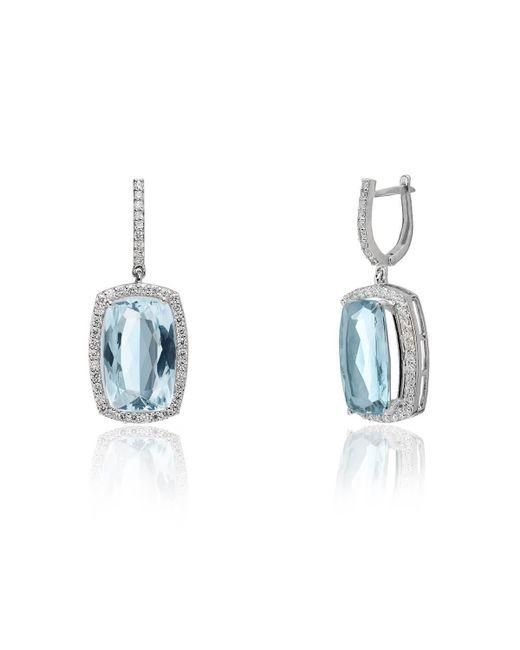 Kaizarin - Multicolor White Gold & Sapphire Drop Earrings   - Lyst