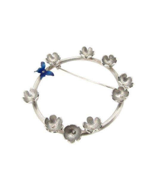 Sian Bostwick Jewellery - Multicolor Butterfly & Daisy Circlet Brooch - Lyst