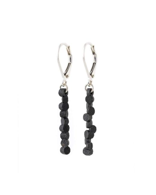 Lumitoro - Tubii Earrings Matte Black Steel - Lyst