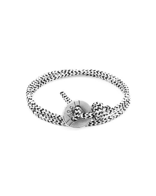 Anchor & Crew - Multicolor White Noir Lerwick Silver And Rope Bracelet - Lyst
