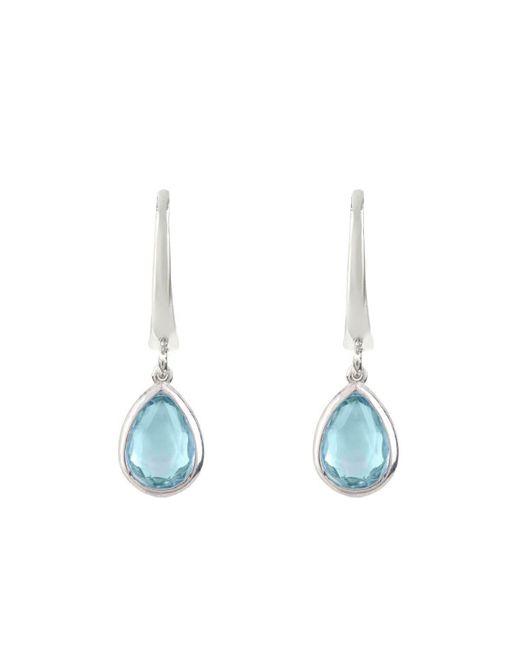 Latelita London - Pisa Mini Teardrop Earrings Silver Blue Topaz - Lyst