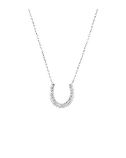 London Road Jewellery - Metallic White Gold Diamond Enchanted Horseshoe Pendant - Lyst