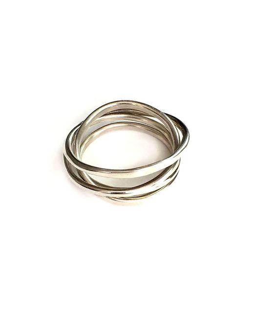 Fran Regan Jewellery Ombre Cosmic Wedding Ring 3 Tier - UK K 1/2 - US 5 3/8 - EU 51 1/4 IhOSyx