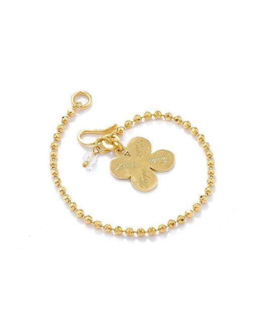 Vicky Davies - Metallic Sterling Silver & 18kt Gold Four Leaf Clover Bracelet - Lyst