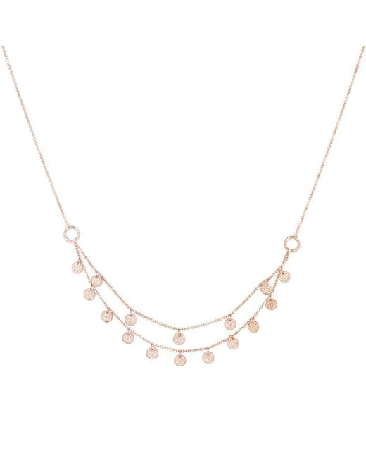 Murkani Jewellery - Metallic Rose Gold Plated Grace Double Strand Disc Necklace - Lyst
