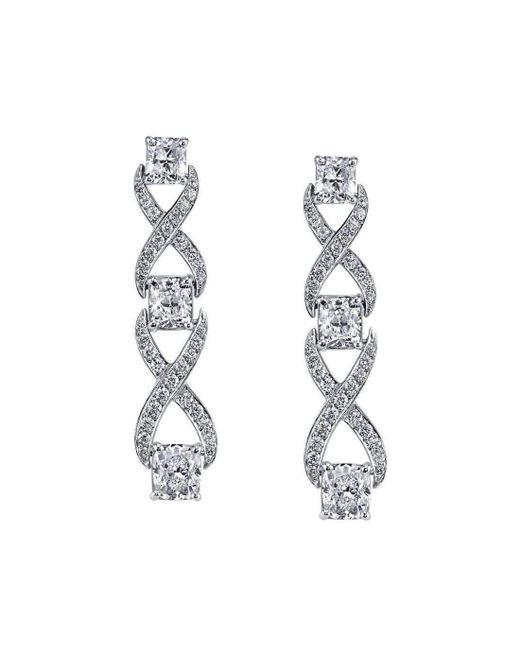 Harry Kotlar | Metallic Kotlar Cushion Diamonds Chantilly Drop Earrings | Lyst