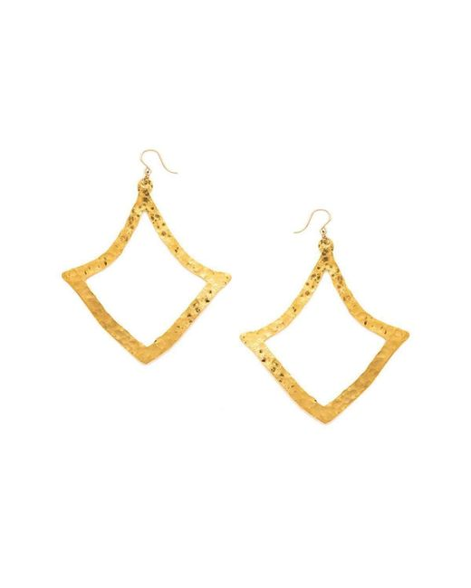 Devon Leigh   Multicolor Hammered Diamond Shaped Earrings   Lyst