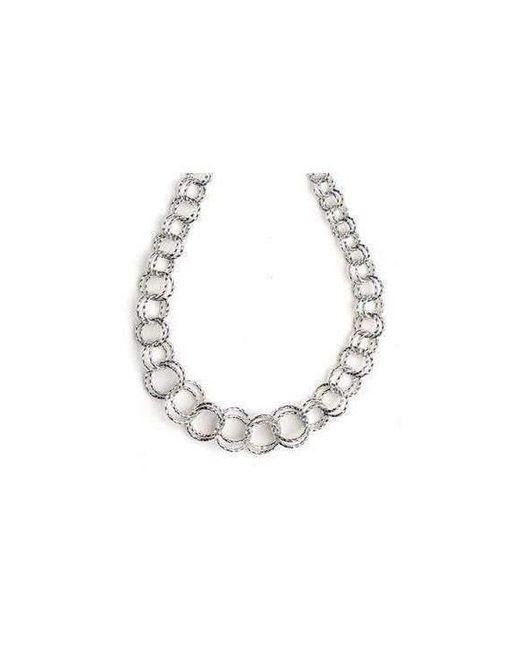 Virtue London - Metallic Interlocking Ring Necklace - Lyst
