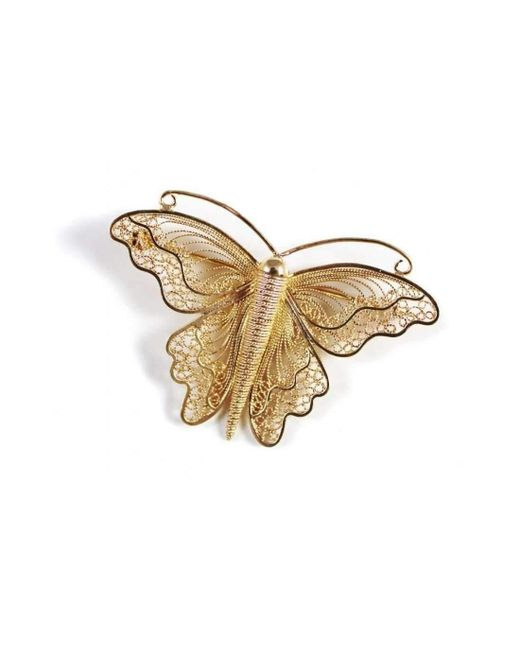 Agora Jewellery | Multicolor Filigree Monarch Butterfly Brooch In 24kt Rose Gold Plated | Lyst