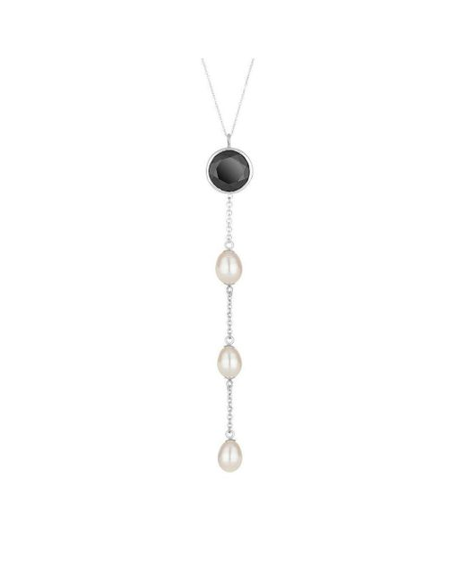 Augustine Jewels - Multicolor Spinel And Pearl Drop Necklace - Lyst