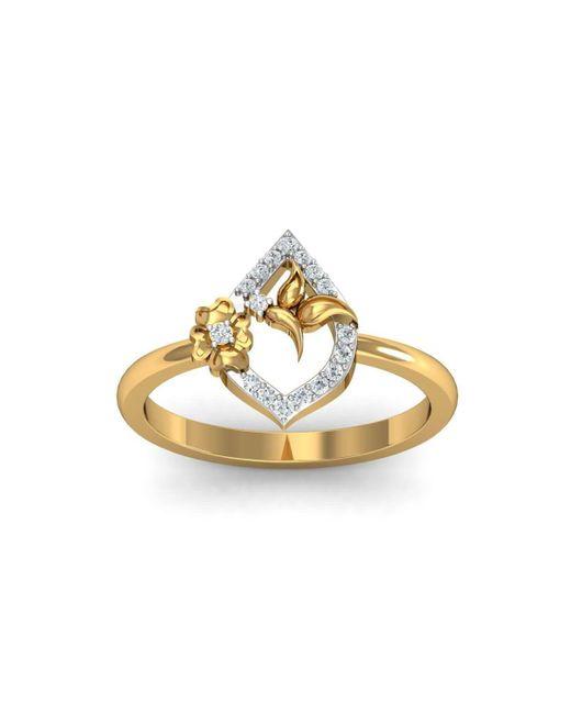 Diamoire Jewels - Metallic 18kt Yellow Gold Pave 0.12ct Diamond Infinity Ring - Lyst