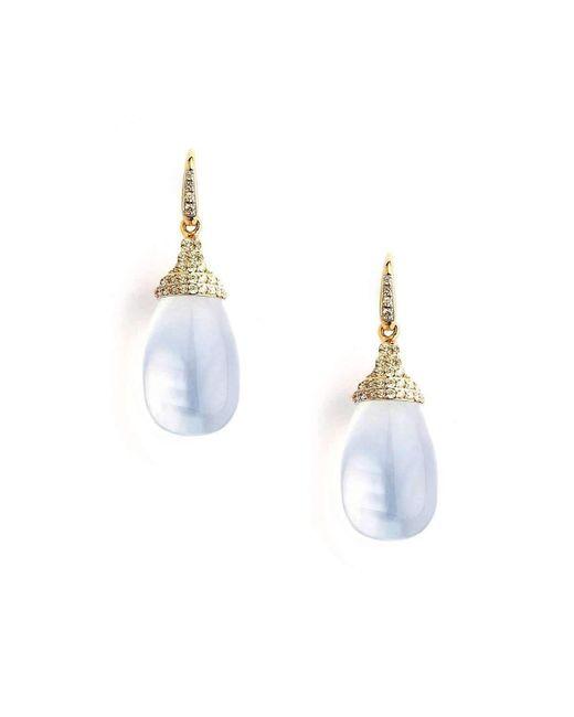Syna 18kt Rose Quartz Earrings With Rubelite sDoTIhapk2