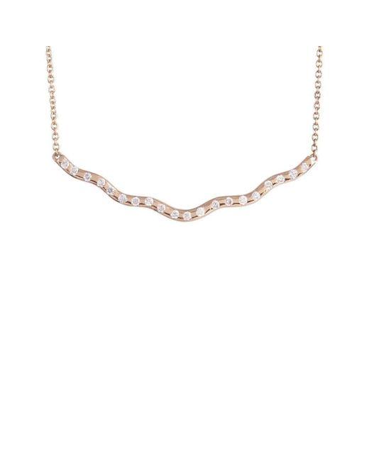 Joely Rae Jewelry - Metallic Rose Gold Wave Diamond Necklace - Lyst