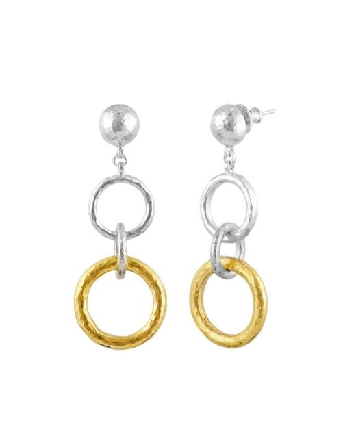 Gurhan - Metallic Double Hoopla Drop Earrings - Lyst