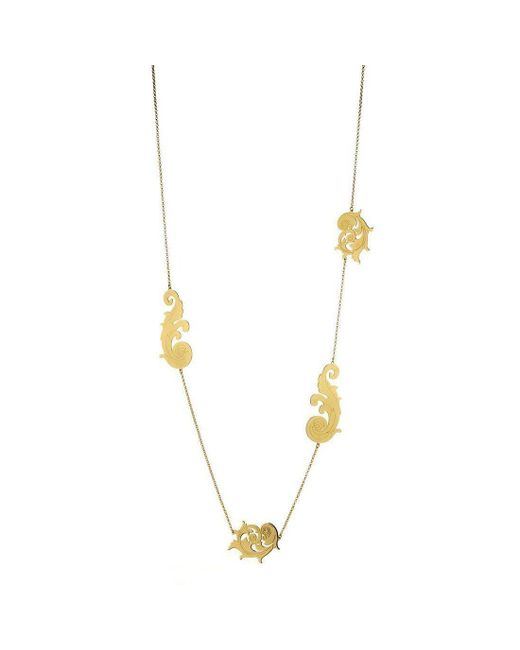 Stefano Salvetti - Metallic Long Gold-plated Baroque Bronze Necklace - Lyst