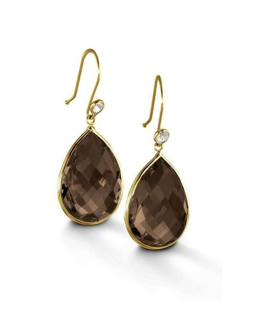 BCOUTURE - Multicolor Smoky Topaz With White Topaz Accent Drop Earrings - Lyst