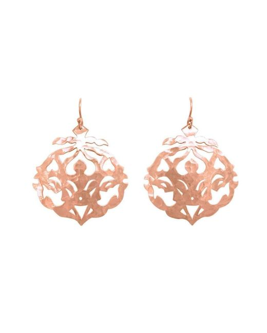 Murkani Jewellery - Multicolor Andalusia Rose Gold Earrings - Lyst