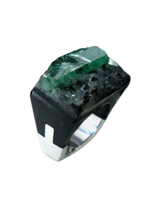 Pasionae - Green Emerald Ring - Lust - Lyst
