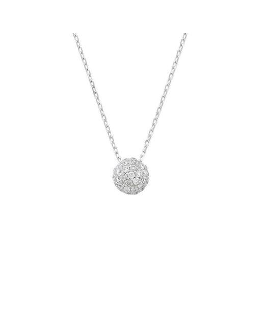 London Road Jewellery - Metallic Bloomsbury White Gold Diamond Ball Pendant - Lyst