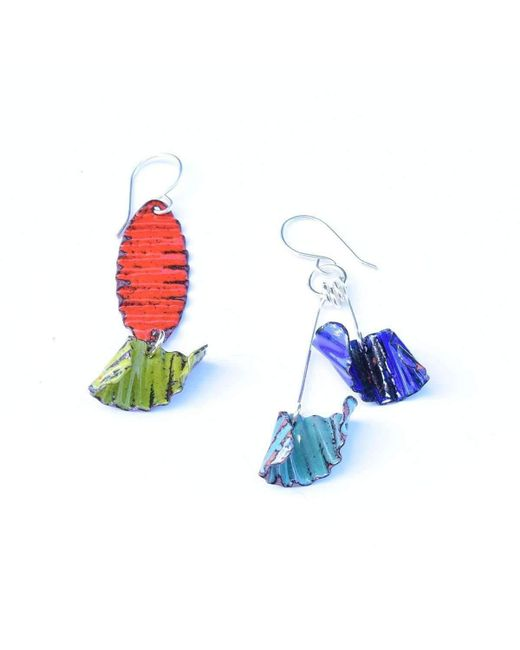 Just Kenzie Jewelry | Blue Twirl Earrings | Lyst