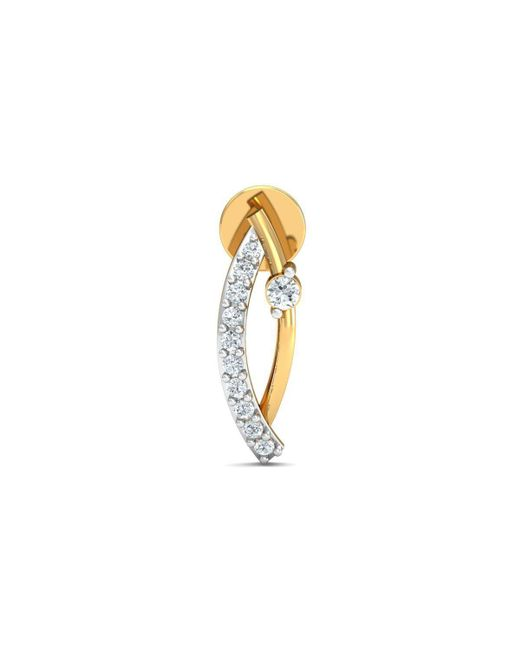 Diamoire Jewels 18kt Yellow Gold 0.13ct Pave Diamond Infinity Earrings II sn2qVWcDx