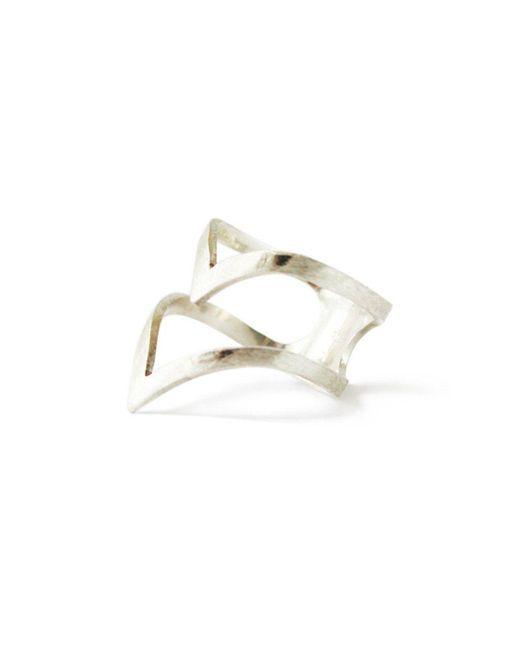 ZLABA - Metallic Arrow Ring - Lyst