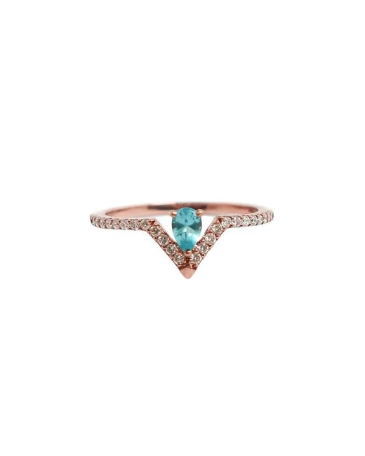 Ri Noor - Multicolor Pear Paraiba Blue Apatite And Diamond Ring - Lyst