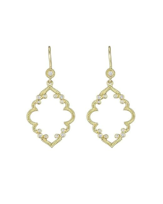 Penny Preville - Multicolor Diamond Accent Arabesque Earrings On Bezel French Wire - Lyst
