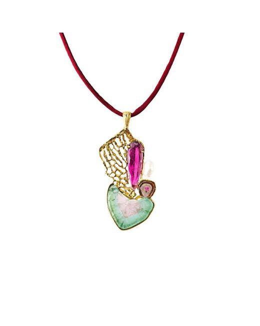 Jaime Moreno Designer Jewelry - Multicolor Yellow Gold, Tourmaline & Pearl Amor Deconstruido Necklace | Jaime Moreno - Lyst