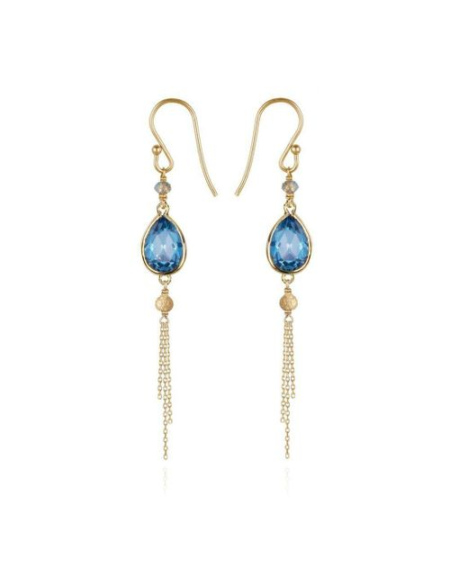 Perle de Lune - Metallic Precious Tassel Drop Earrings 18kt Gold - Lyst