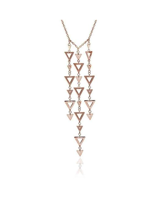 Chavin Couture - Metallic Rose Gold Large Triangle Dangle Pendant - Lyst
