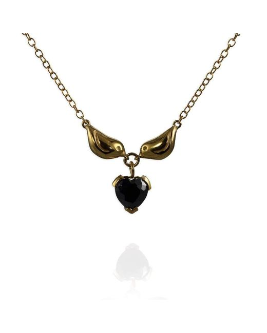 Jana Reinhardt Jewellery - Multicolor Sterling Silver Black Heart Necklace - Lyst