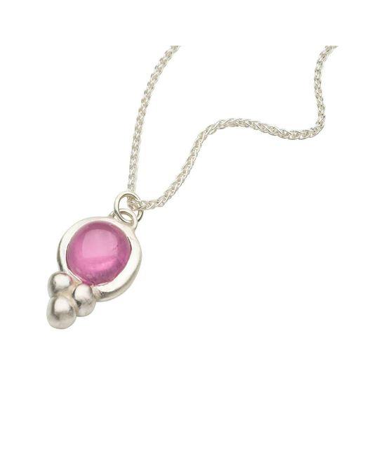 Naomi Tracz Jewellery - Pink Tourmaline Orb Pendant - Silver - Lyst