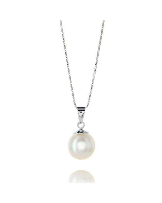 Brian Gavin Diamonds - White Gold & White Freshwater Pearl Pendant Necklace - Lyst
